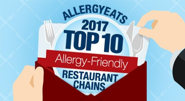 Top 10 Most Allergy-Friendly Restaurants 2017