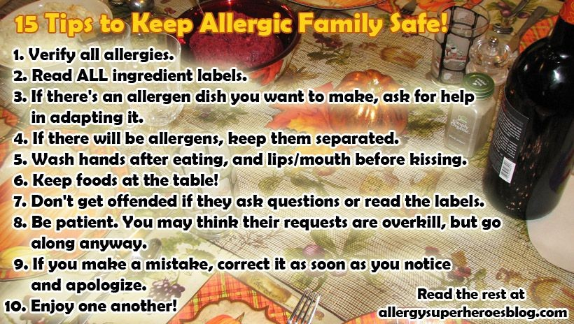 15 Ways to Keep Allergic Loved Ones Safe on Thanksgiving — And Always!