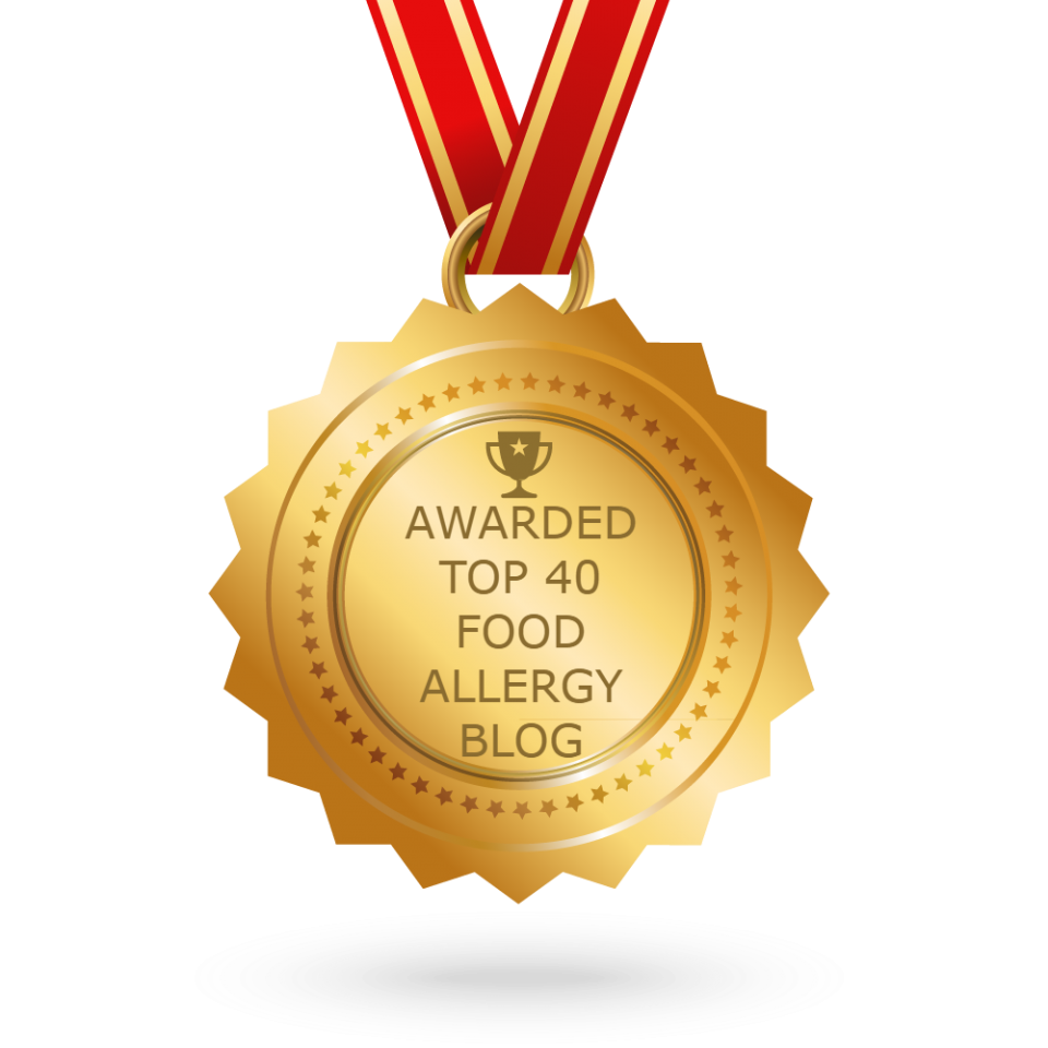 Top 40 Food Allergy Blog 2 Years Running!