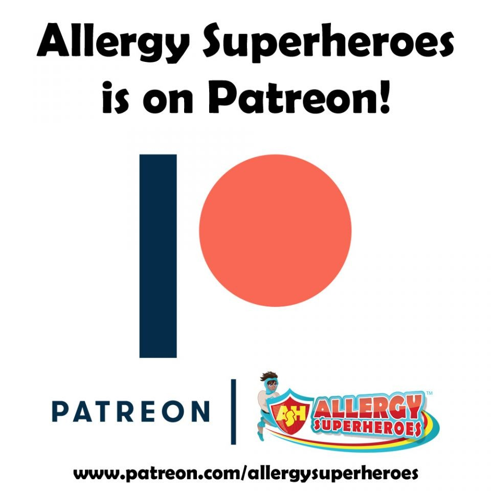 Allergy Superheroes is on Patreon!
