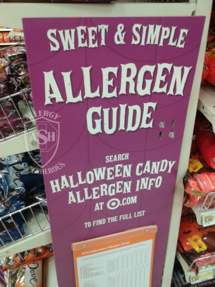 Halloween Candy Allergen Info at Target