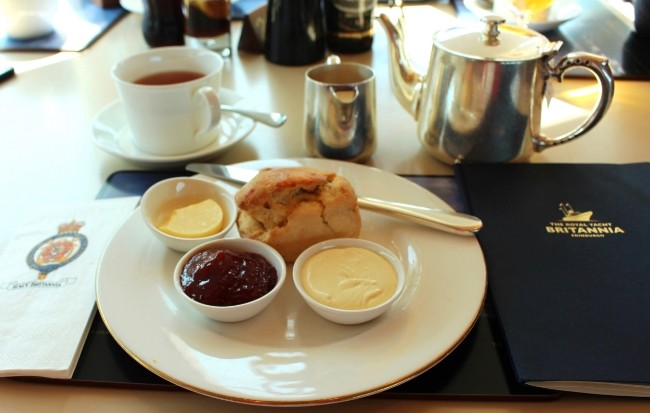 Gluten-Free High Tea in Edinburgh, Scotland aboard the Queen's Yacht!