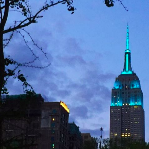 Turning Buildings Teal In Honor of Food Allergy Awareness Week!
