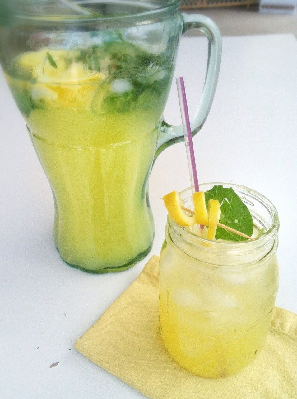 Recipe: Fresh Squeezed Basil and Pineapple Lemonade