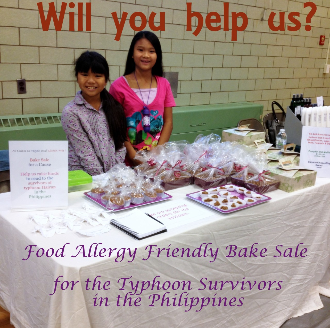 Bake Sale for the Philippines