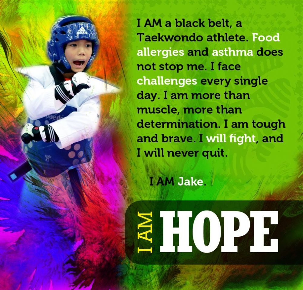 Faces of Food Allergy: Jake the Taekwondo Champ