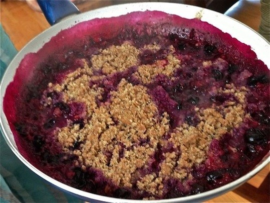 Gluten Free Blueberry Cobbler with Almond Meal