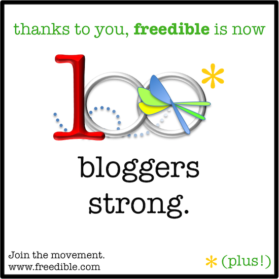 A toast to freedible's 1st 100 bloggers!