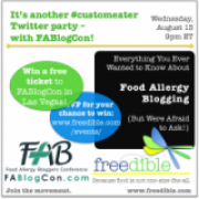 Food Allergy Blogging Twitter Party with FABlogCon!