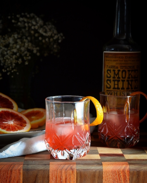 Blood Orange and Vanilla Whiskey Sour