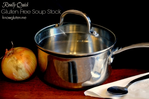 Really Quick Gluten Free Soup Stock