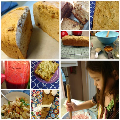 fall photo collage food allergy cooking and baking wheat free