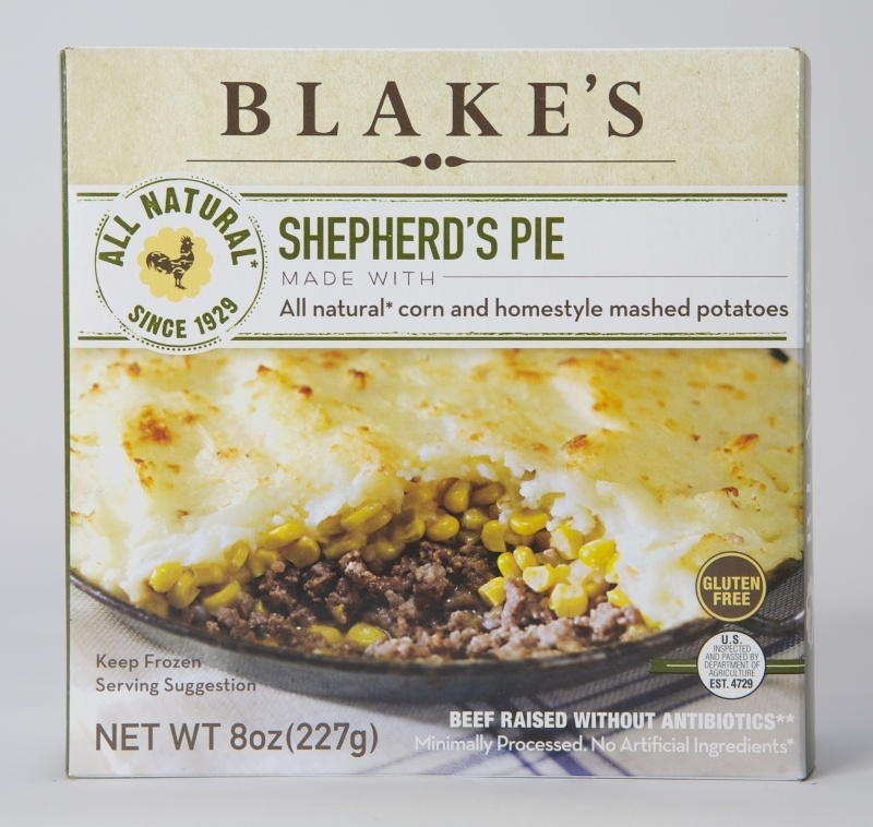 06126f647b7eb33b99eacf44.jpg - We use Great Grandma Clara Blake's heirloom family recipe to make our Gluten Free Shepherd's Pie! This features lots of moist ground beef and organic corn, then topped with freshly made mashed potatoes. Contains milk.