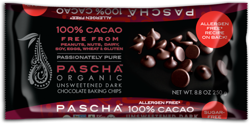 4a24c22550470dcb58a722e6.png - organic unsweetened dark chocolate baking chips. 100% cacao. peruvian chocolate. free from peanuts,  nuts, dairy, soy, eggs, wheat & gluten.
