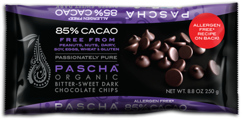 7b579e5eaeaa38e342ce8b9a.png - organic bittersweet dark chocolate baking chips. 85% cacao. peruvian chocolate. free from peanuts,  nuts, dairy, soy, eggs, wheat & gluten.