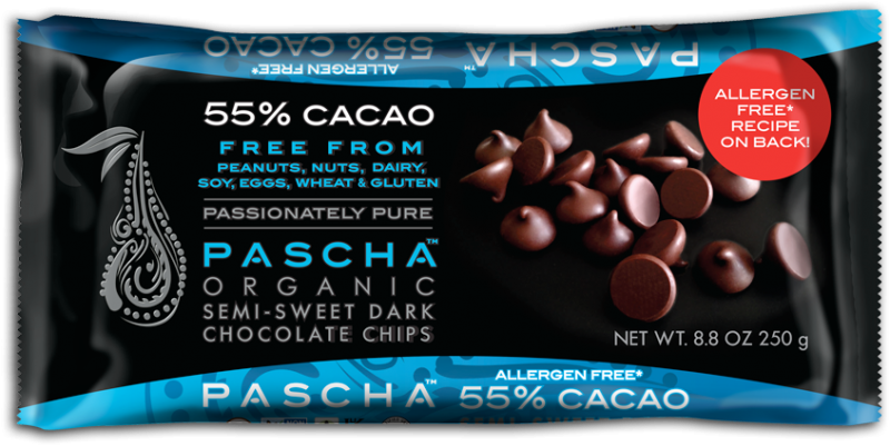 6f443730af88548aaee93df9.png - organic semi-sweet dark chocolate baking chips. 55% cacao. peruvian chocolate. free from peanuts,  nuts, dairy, soy, eggs, wheat & gluten.