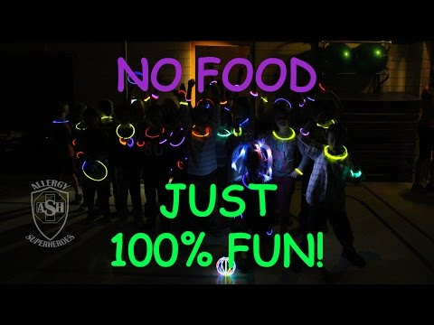 Glowstick Birthday Party by the Allergy Superheroes