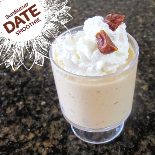 SunButter Date Smoothie is a quick, filling, easy nut-free meal or snack.