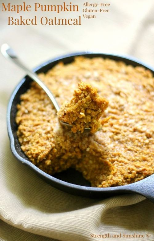 Gluten-Free Maple Pumpkin Baked Oatmeal (Vegan, Allergy-Free)
