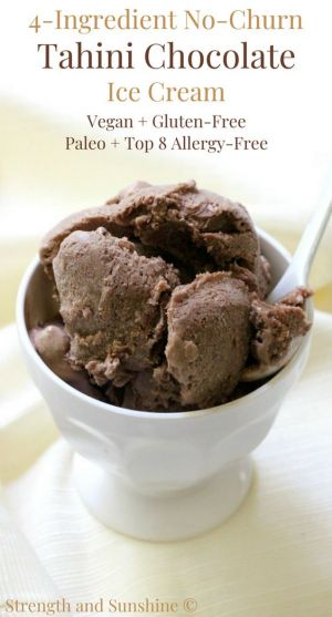 Four-Ingredient No-Churn Tahini Chocolate Ice Cream