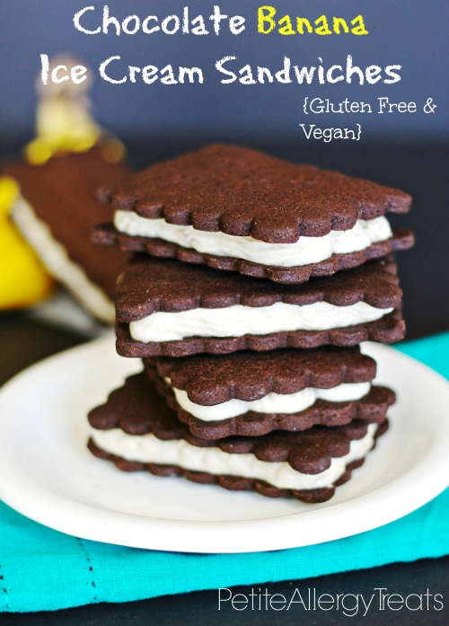 Dairy Free Banana Ice Cream Sandwiches