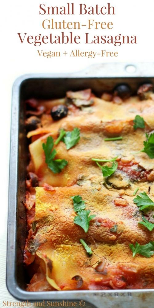 Small Batch Gluten-Free Vegetable Lasagna