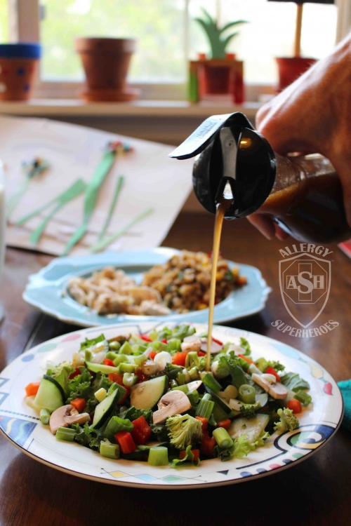 Asian Salad Dressing Peanut-free, Tree Nut-free, Egg-free, Dairy-free, Gluten-free, Fish-free, Shellfish-free