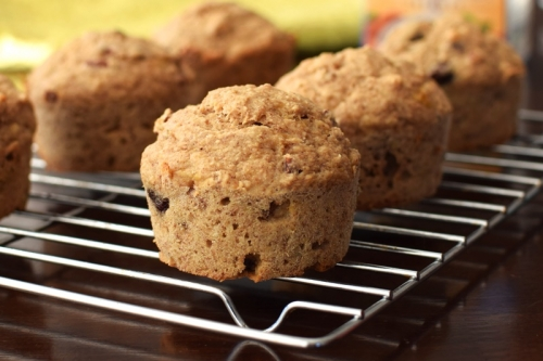 Banana-Oat Trail Mix Muffins