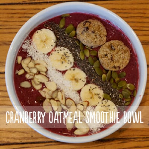 Zemas Oatmeal Cranberry Smoothie Bowl
