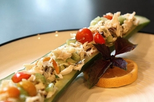 Crab Salad Cucumber Boats