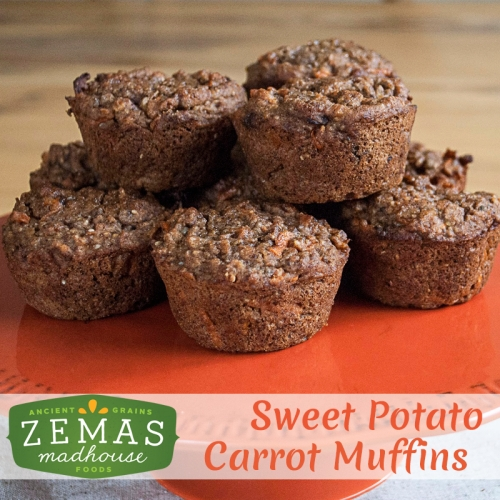 Sweet Potato Carrot Muffin
