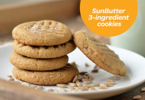 Nut-Free Three Ingredient SunButter Cookies