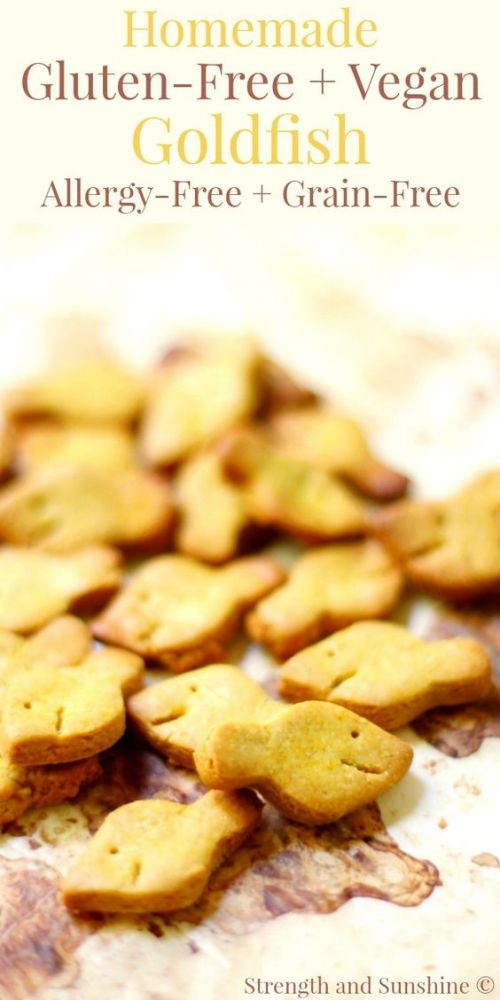 Homemade Gluten-Free, Vegan Goldfish