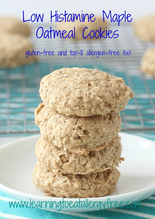 Low Histamine Maple Oatmeal Cookies