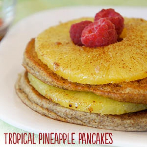 Tropical Pineapple Pancakes