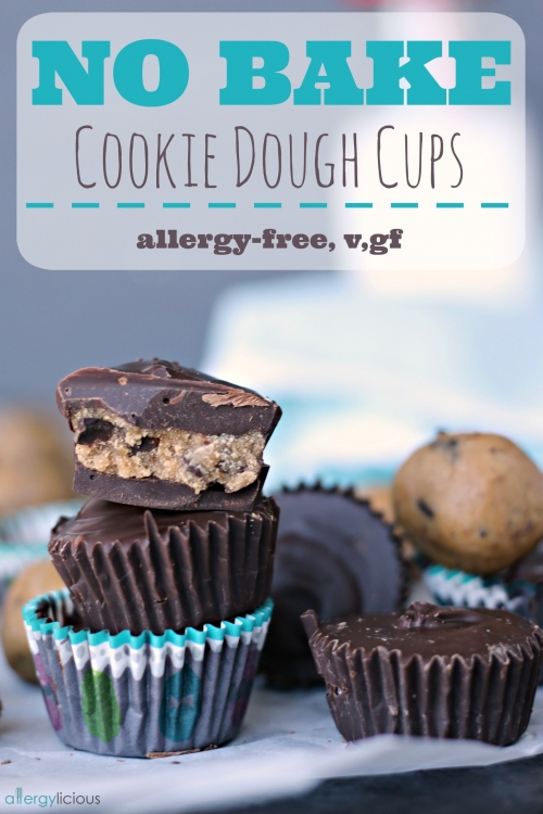 No Bake Cookie Dough Cups