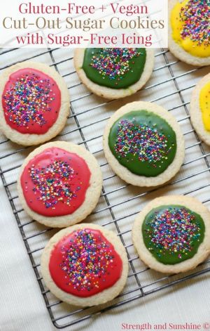 Gluten-Free, Vegan Cut-Out Sugar Cookies with Sugar-Free Icing