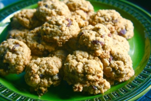 Gluten and Egg Free Oatmeal Cookies
