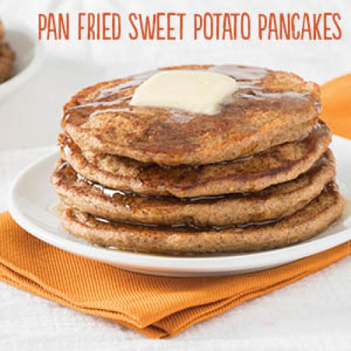 Pan Fried Sweet Potato Pancakes