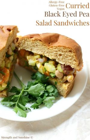 Curried Black Eyed Pea Salad Sandwiches