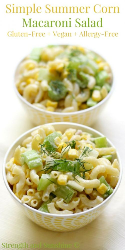 Simple Summer Corn Macaroni Salad