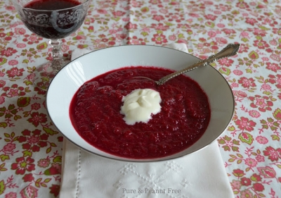 Roasted Beet and Apple Soup