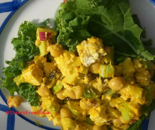 Curried Tofu Chickpea Salad