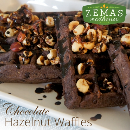 Chocolate Hazelnut Waffles
