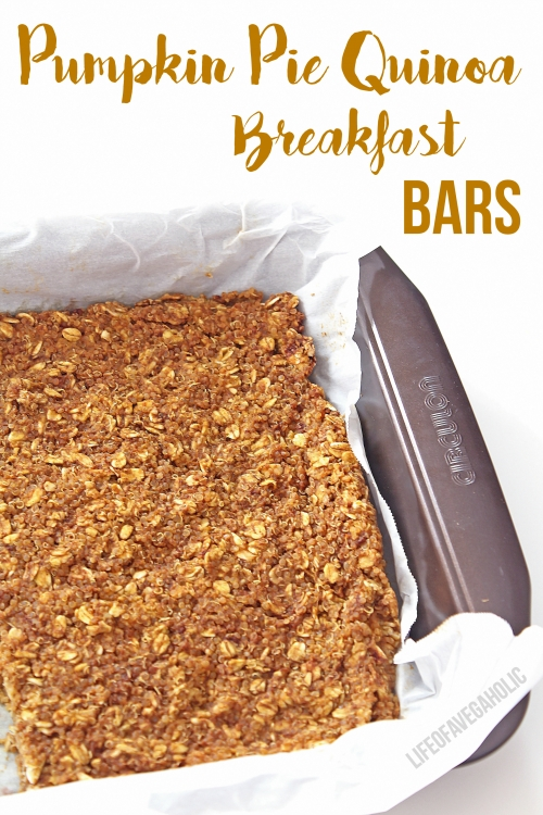 Pumpkin Pie Quinoa Breakfast Bars