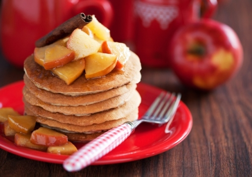 Apple Buckwheat Pancakes