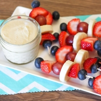 Dairy-free Citrus Fruit Dip and Mini Fruit Kabobs