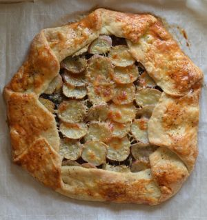 Swiss Chard & Potato Galette