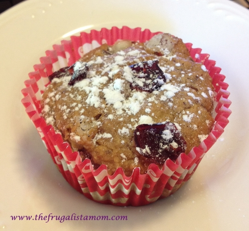 Gluten Free and Vegan Cranberry Oat Muffins
