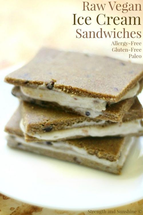 Raw Vegan Ice Cream Sandwiches